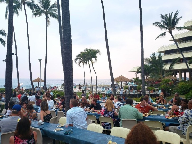 Ocean view at the Voyagers of the Pacific luau