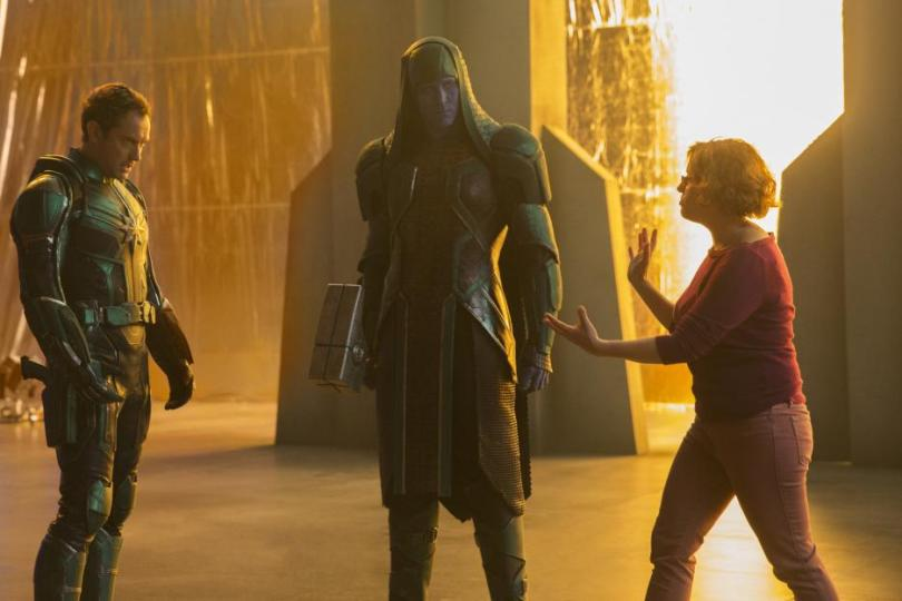 Actor Lee Pace as Ronan on the Captain Marvel set