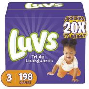 Discounted Luvs diapers baby disposable panales size 3