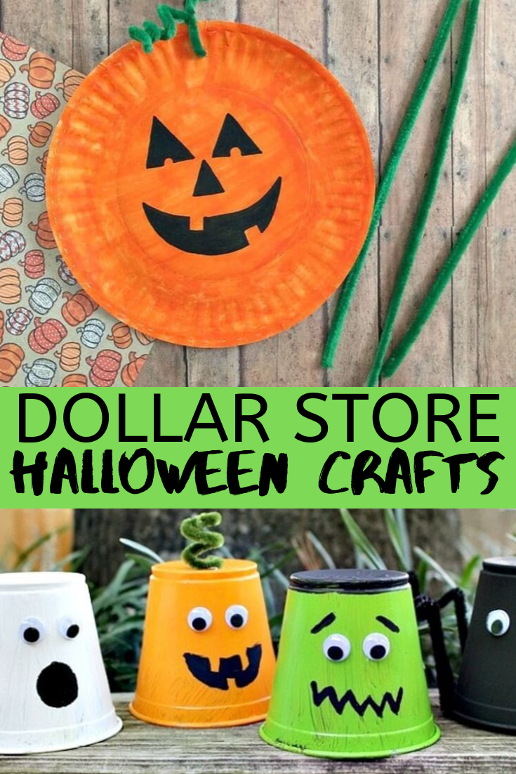 17 DIY Dollar Store Halloween Crafts to Make With Kids - these cheap Halloween crafts are all made from dollar store Halloween ideas