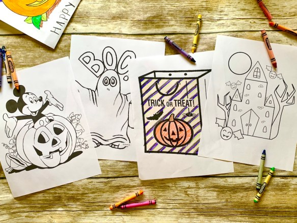 Printable Halloween colouring pages - free fun for kids