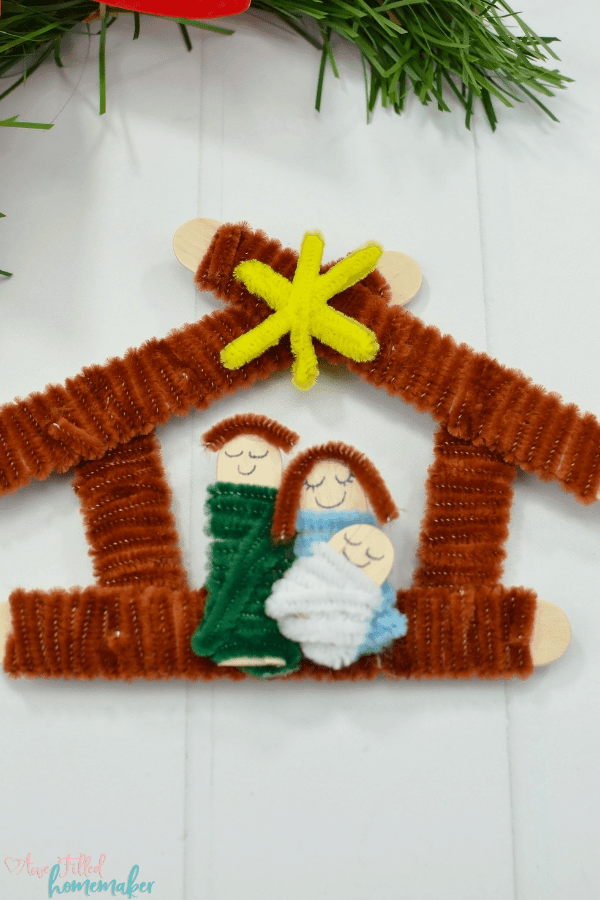 DIY nativity scene ornament - Awe Filled Homemaker