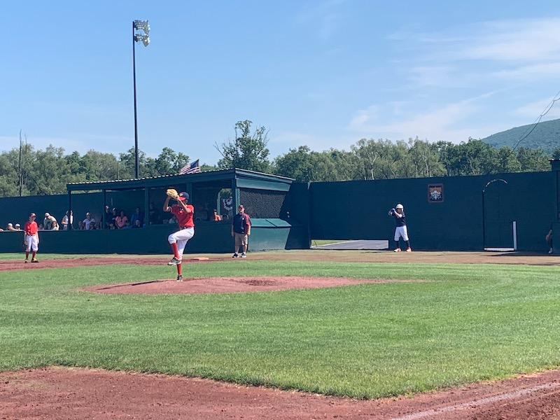 Kid pitching in Cooperstown Dreams Park fields