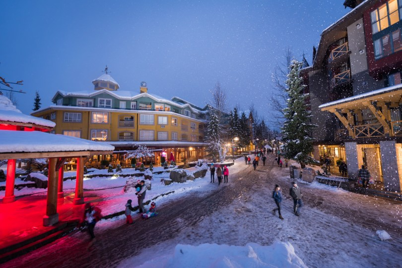 Winter apres in Whistler BC Canada