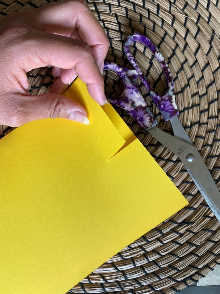 Cut a slit to make DIY Father's Day tie cards