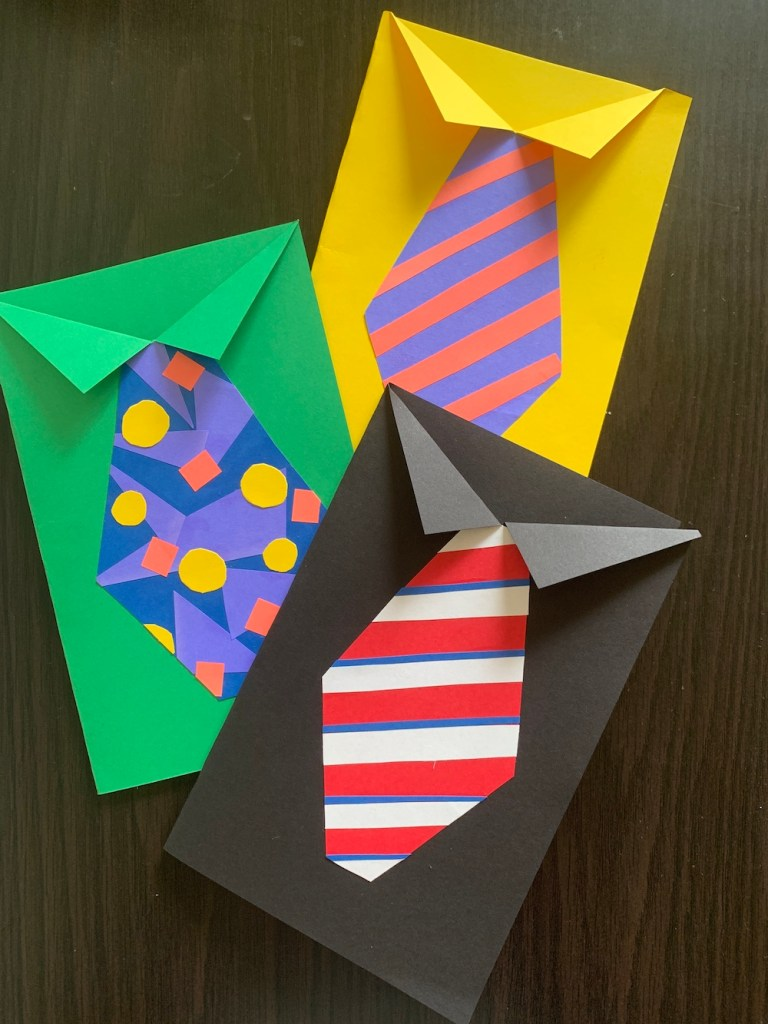 Shirt and tie cards for Father's Day