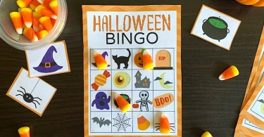 Fun printable Halloween bingo game
