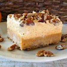 Pumpkin Pecan and Chiffon Pie Bars