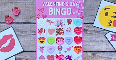 Free Valentine bingo game - 4 cards to print