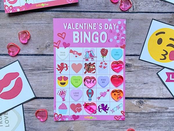 Valentine bingo game - 4 cards to print