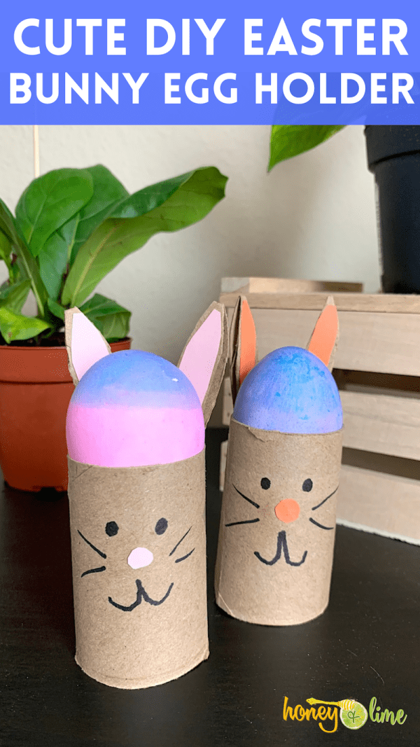 DIY Easter Egg Holders - Toilet Paper Roll Bunny Craft