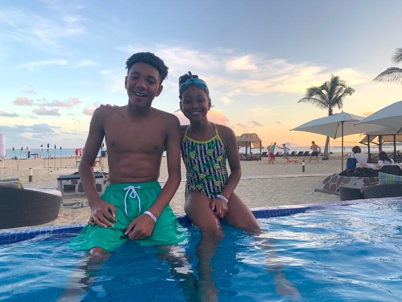 Kids at the pool Hyatt Ziva Cabo