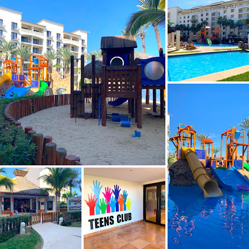 Kids pool area at Hyatt Ziva Los Cabos waterpark kids club