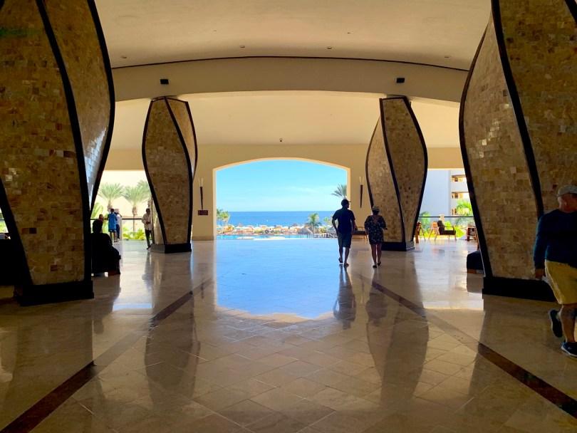 Lobby view at the Hyatt Ziva Los Cabos Resort