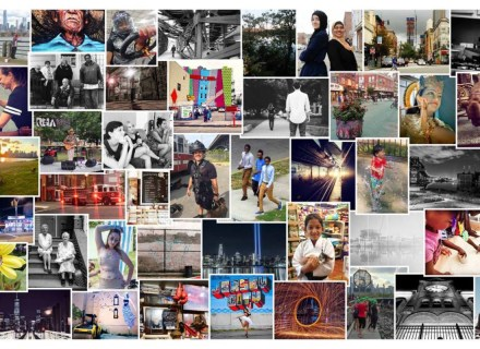 banner that includes winning photos for the #dayinthelifejc photo contest