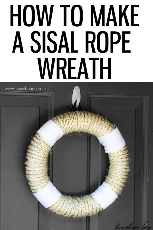 How to make a sisal rope wreath