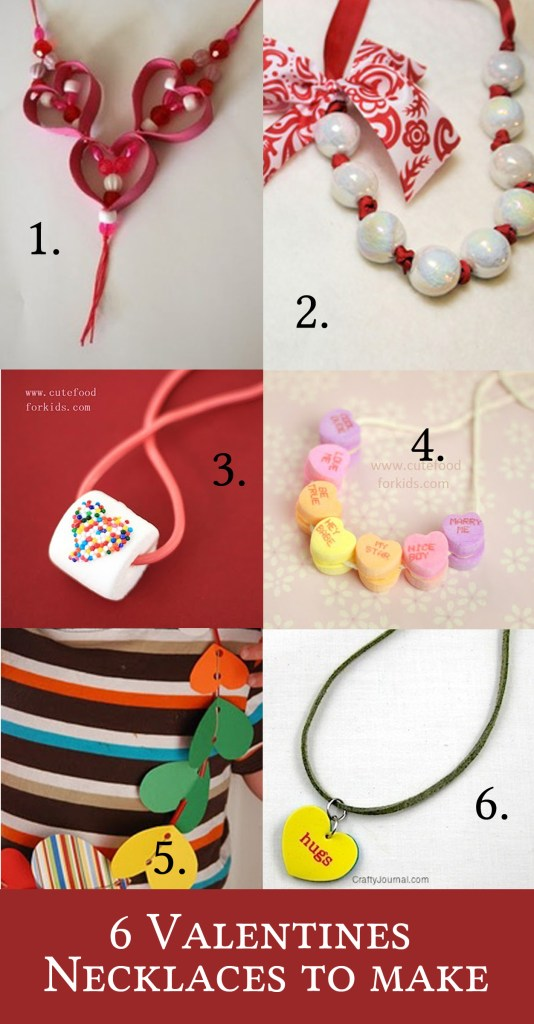 6 Valentines necklaces to make