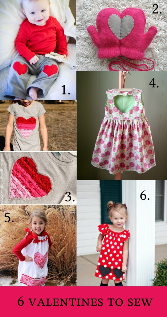 Six Valentines Sewing Projects