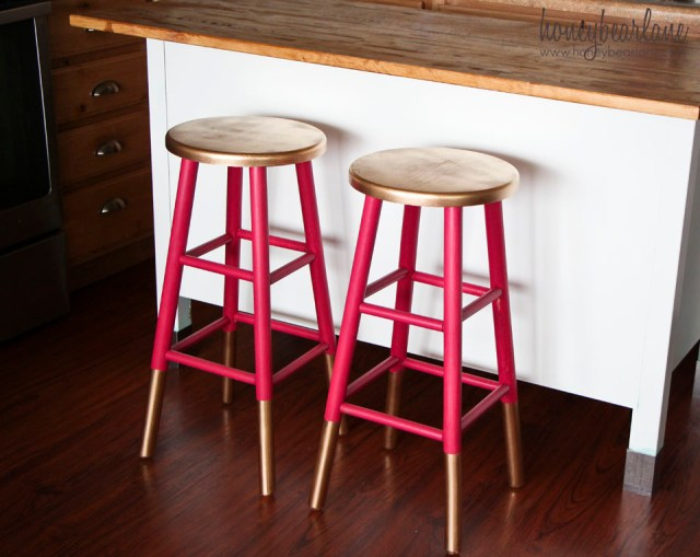 paint dipped bar stools
