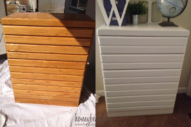 painted dresser before and after