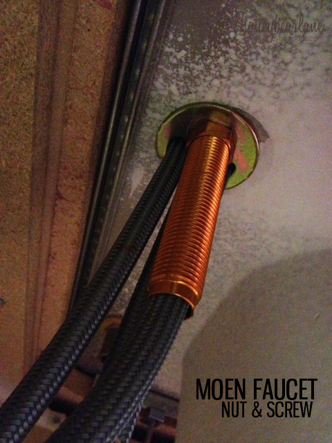 Moen Faucet nut and screw
