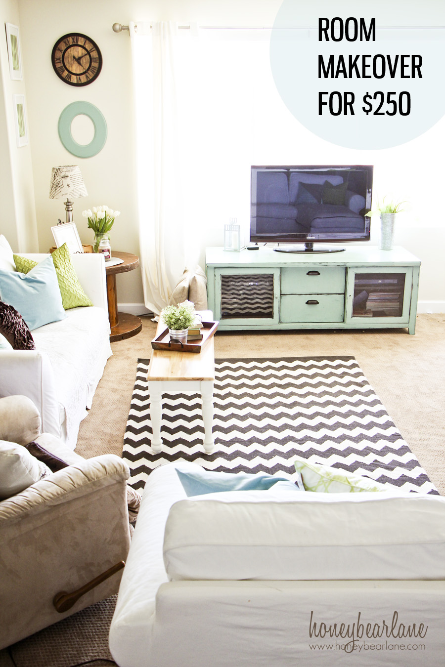 Family Room Makeover For 250 Honeybear Lane