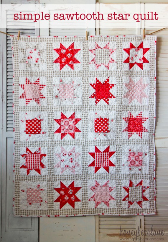 simple sawtooth star quilt