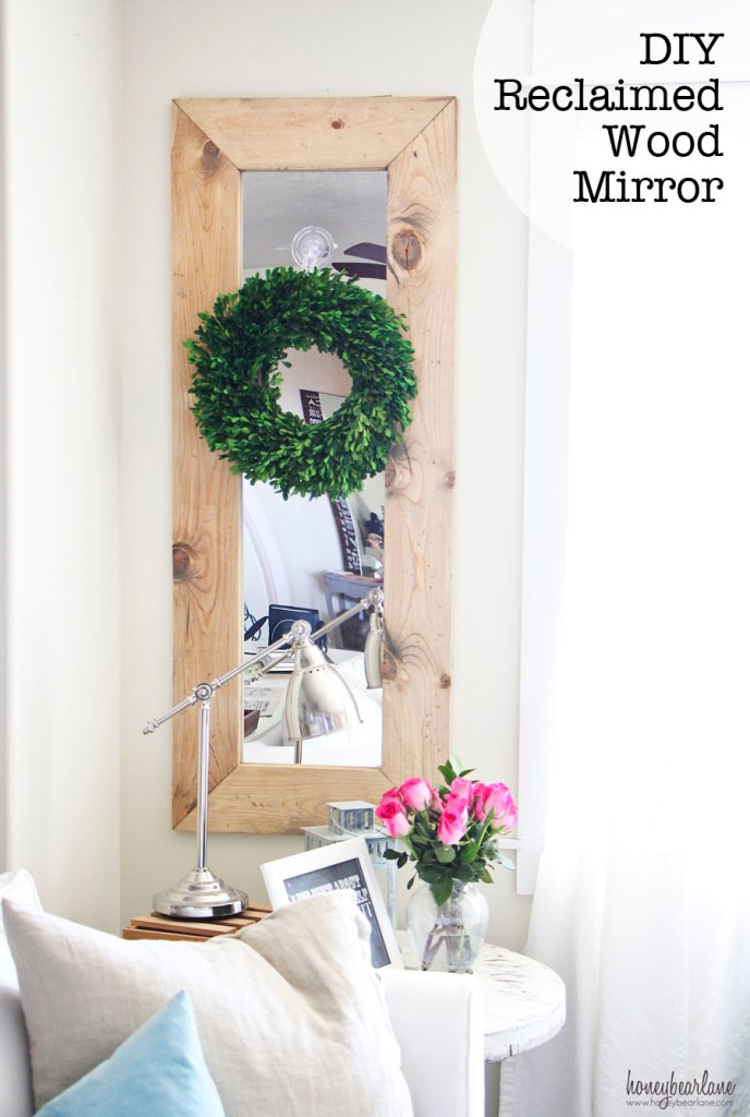DIY Reclaimed Wood Mirror