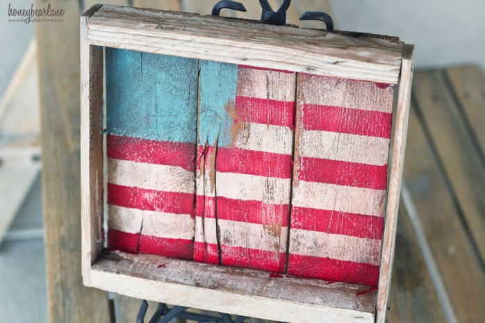 rustic painted flag
