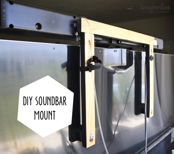 diy soundbar mount