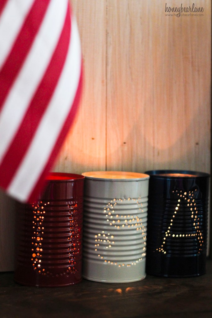 tin can luminaries 4th of july