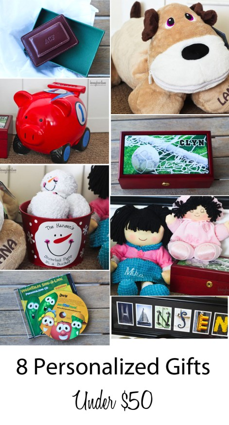 8 personalized gifts under $50