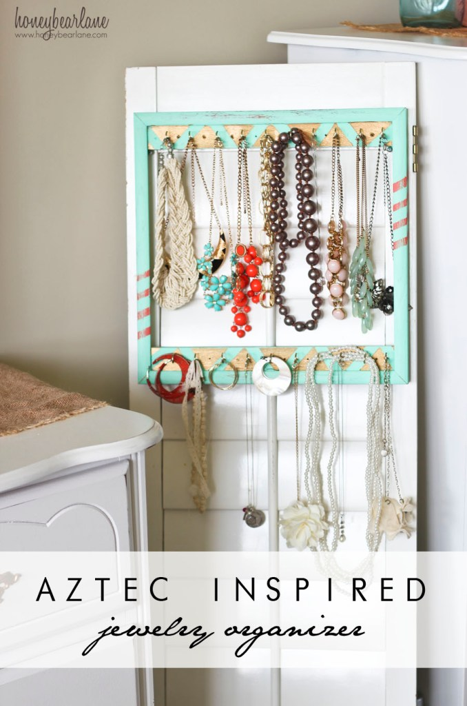 aztec inspired jewelry organizer