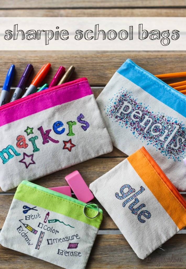 sharpie school supply bags