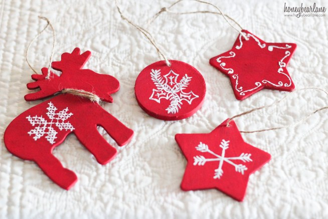 scandinavian red ornaments