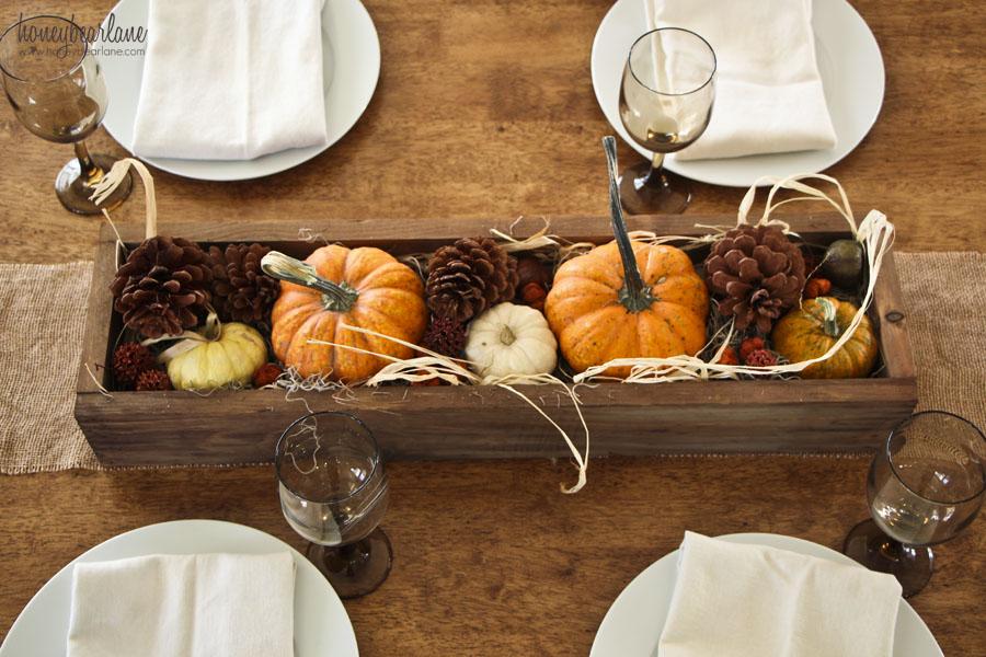 Easy Thanksgiving Centerpiece Ideas Honeybear Lane