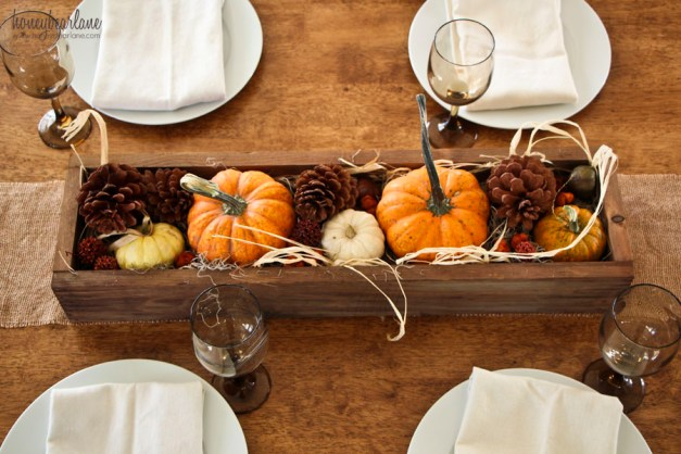 thanksgiving box centerpiece