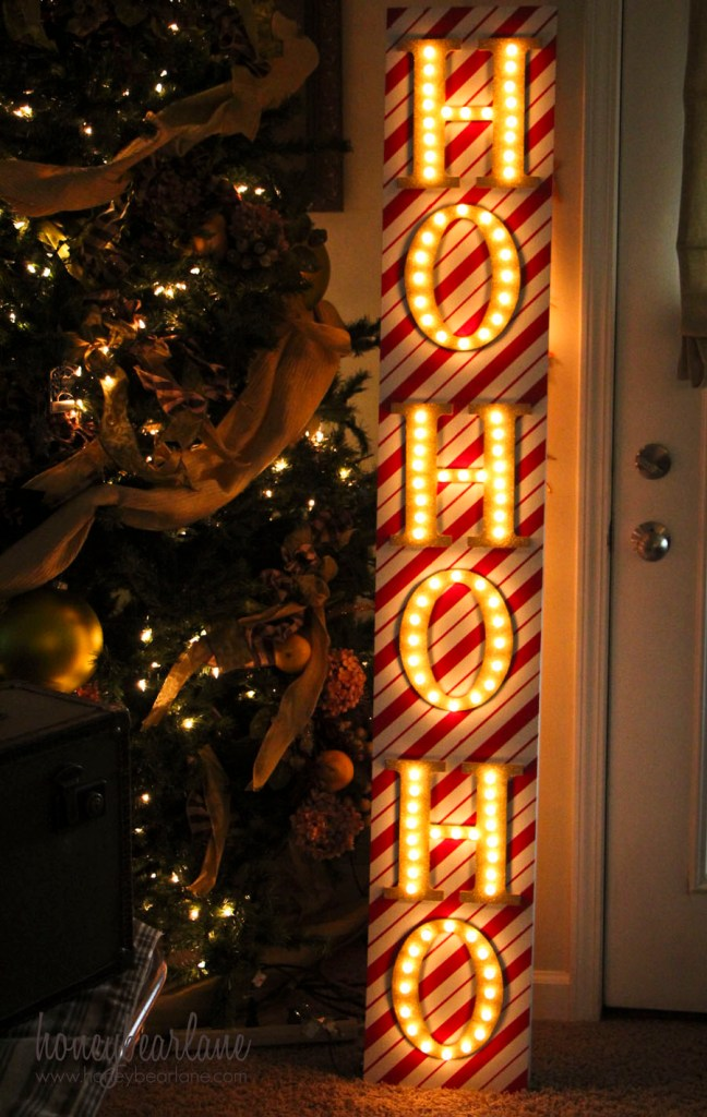holiday marquee sign