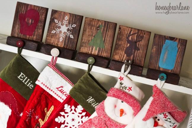 rustic christmas stocking holders