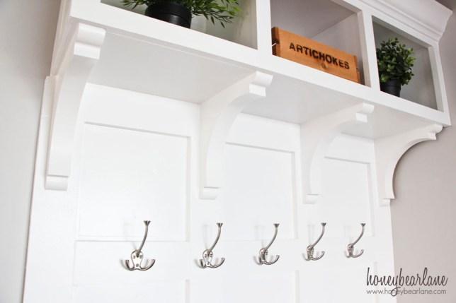 mudroom bench hooks