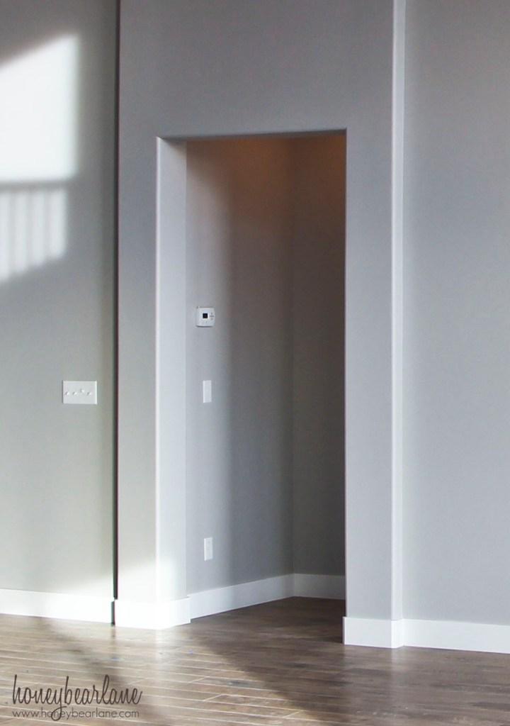 untrimmed doorway