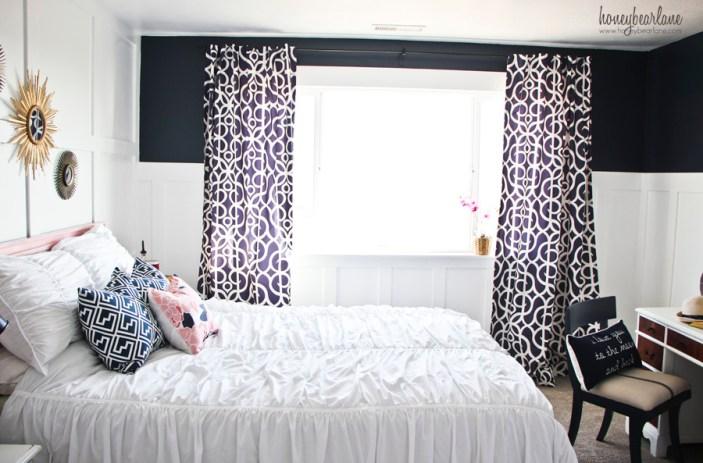 navy blue bedroom 1
