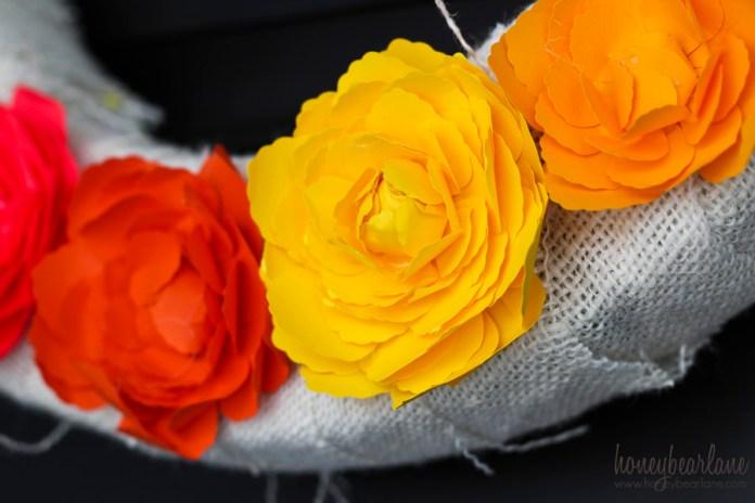 yellow paper ranunculus