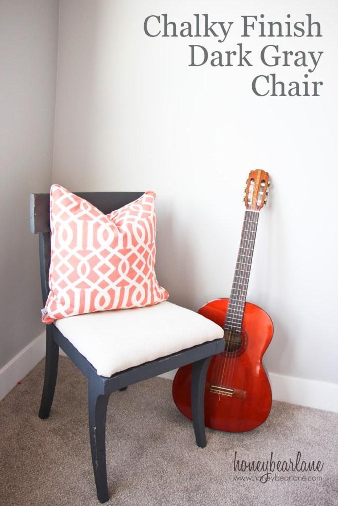 chalk paint dark gray chair