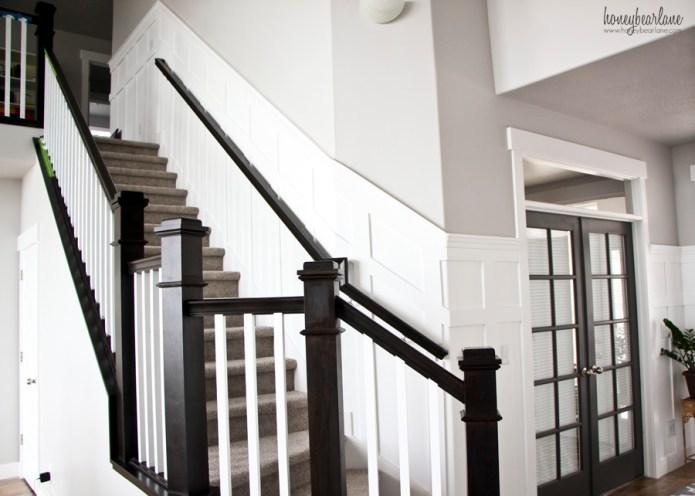 stairs wainscoting