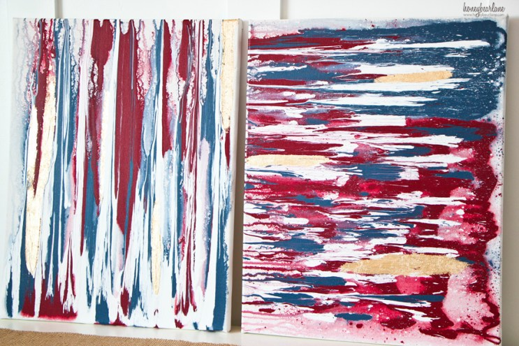 red white and blue art