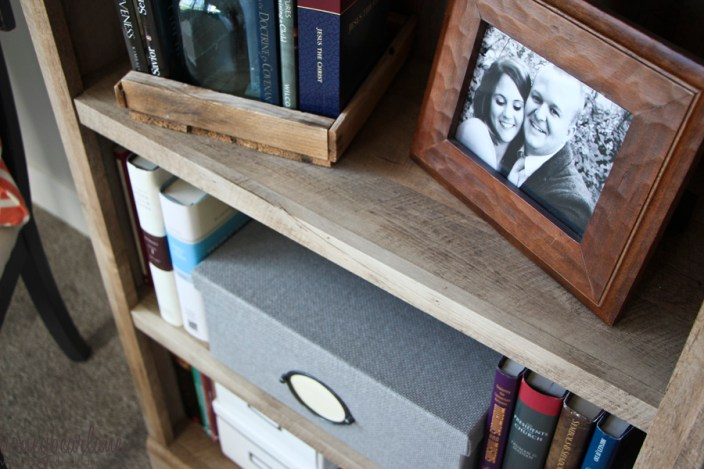 weathered look bookcase
