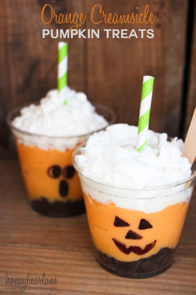 orange creamsicle pumpkin treats