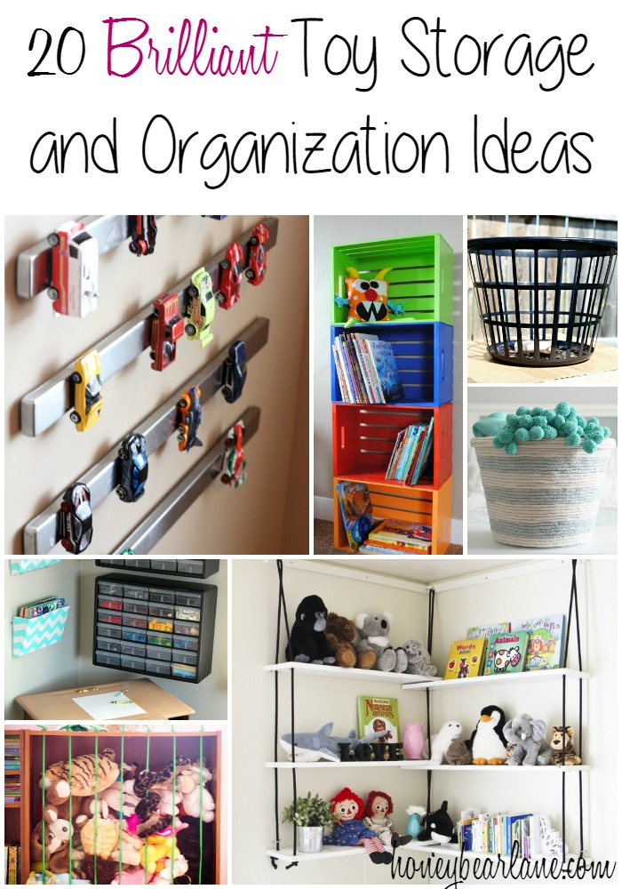 20 Brilliant Toy Storage and Organization Ideas - these are great for organizing playrooms!