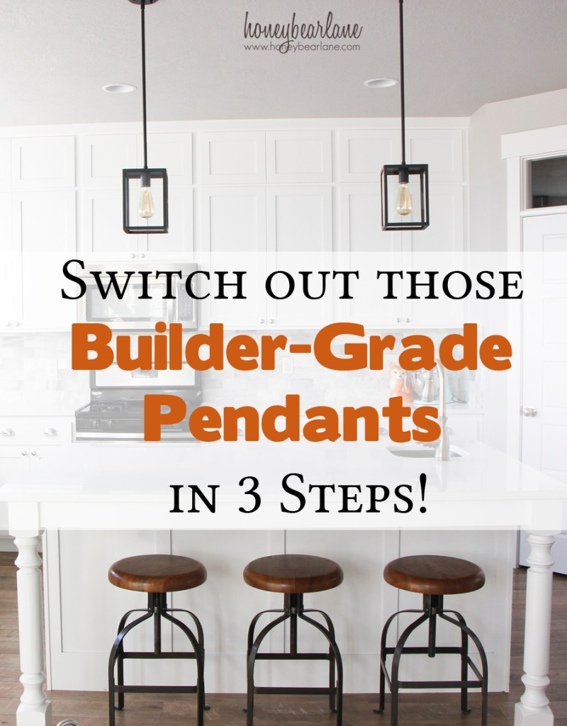 switch out your builder grade pendants